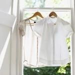 Stil-Ikone weiße Bluse